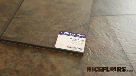 50lvt107 coretec rustic slate by hard wood for Dog proof wood floors