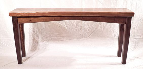 Reclaimed Walnut Slab Console Hall Sofa Table Made in USA Unique Art with Function on Etsy, $1,250.00