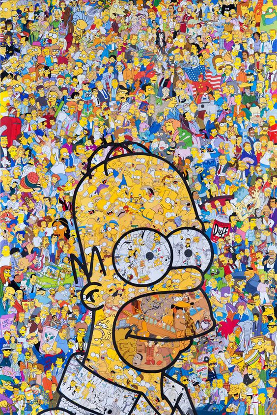 homer simpson artiste s mr garcin source. Black Bedroom Furniture Sets. Home Design Ideas