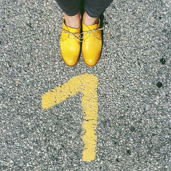 Yellow MOMA oxfords by @tizzia on Instagram.