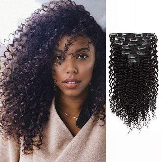 Amazon Com Amazingbeauty 8a Grade Human Hair Clip In Extension