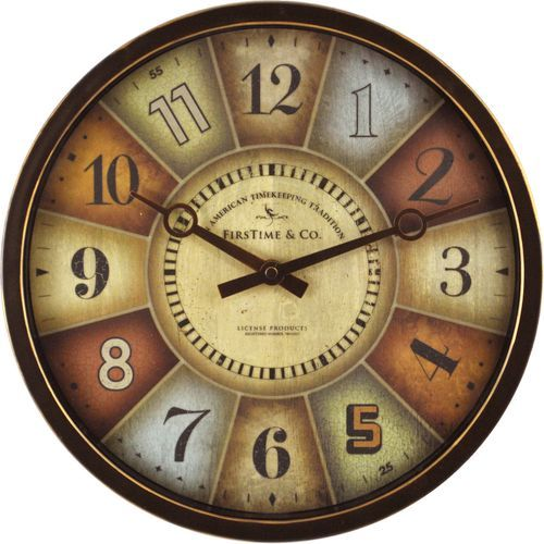 Color Wheel 12 Oil Rubbed Bronze Wall Clock Unique Wall Clocks Clock 12 Color Wheel