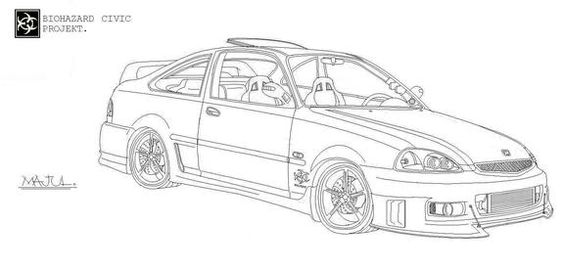 Coloring Pages Honda Cars : Free coloring pages of how to