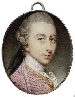 Jeremiah Meyer, RA, 1735-89  Portrait of Francis Charteris  About 1771  Watercolour on ivory