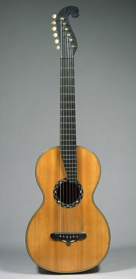 Guitar, ca. 1838 - Christian Frederick Martin (American, born Germany, 1796–1873) - New York - Wood, various materials
