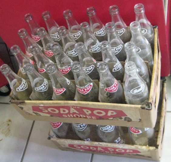 Vintage Hoods Soda Pop Shoppe of Owosso Michigan.  The bottom tray are the 32 oz glass bottles that are a little harder to find.