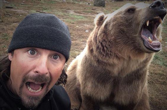 Su Mejor Amigo Es Un Macizo Mortal Grizzly Bear Y Es El Más - Guys best friend bear cutest bromance ever