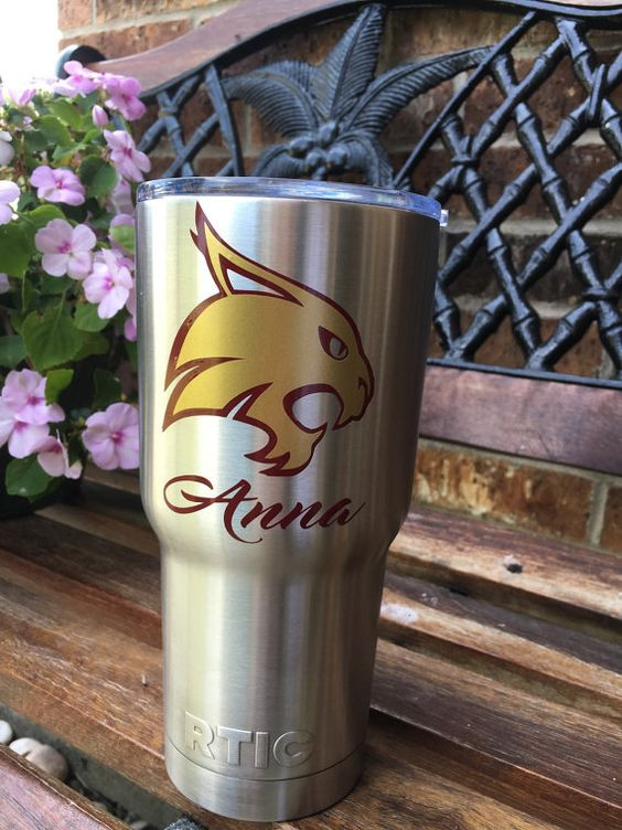 Texas state bobcat inspired decal with name by HometownXpressions