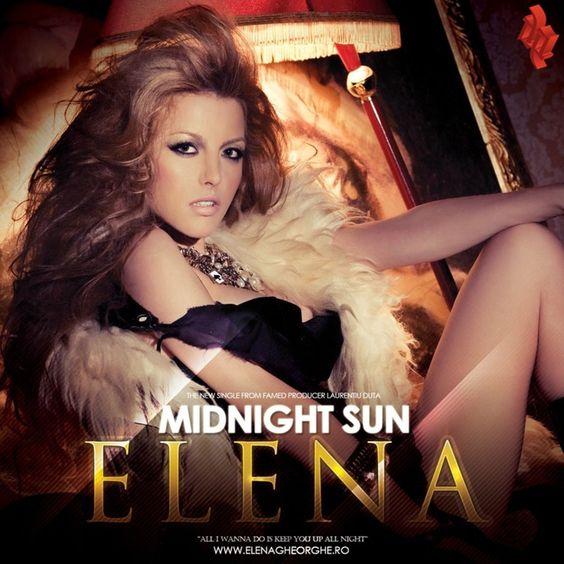 Elena Gheorghe – Midnight Sun (single cover art)