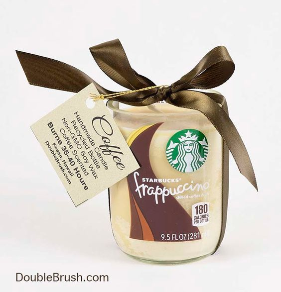 Upcycled Coffee Candle Small Starbucks Frappuccino