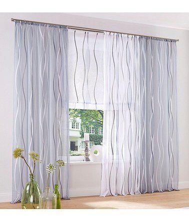Gardine Dimona My Home Osen 2 Stuck Weiss Silberfarben Grau Gardinen Vorhange Vorhange Ideen