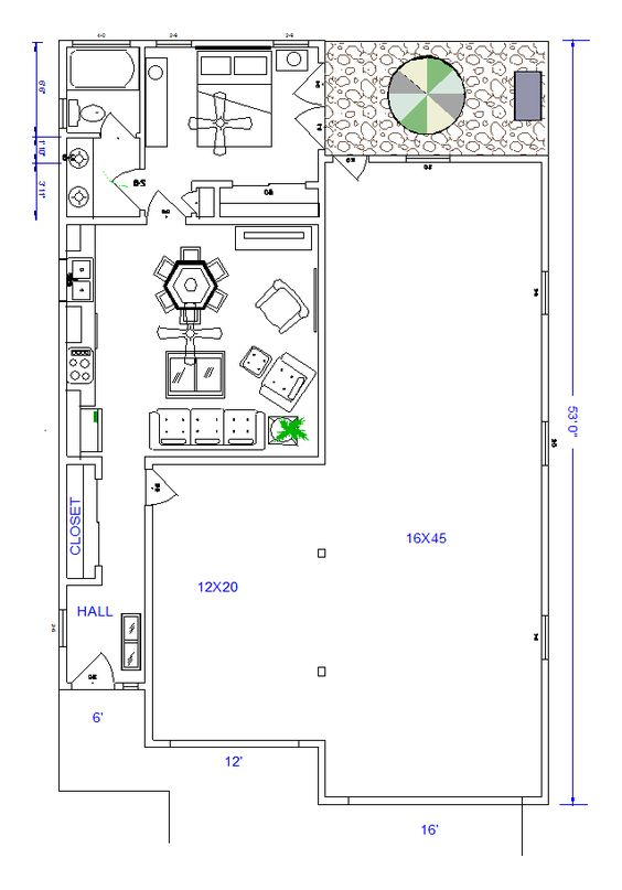 Rv port floor plan small spaces pinterest to be for Rv port designs