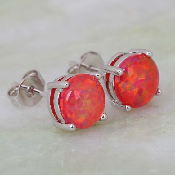 Find More Stud Earrings Information about Stunning Fashion 2015 New Jewelry Brand designer 925 Stamp Sterling Silver Overlay Red Fire Opal  earrings Cute jewelry E212,High Quality jewelry star,China jewelry chanel Suppliers, Cheap jewelry made in india from Dana Jewelry Co., Ltd. on Aliexpress.com