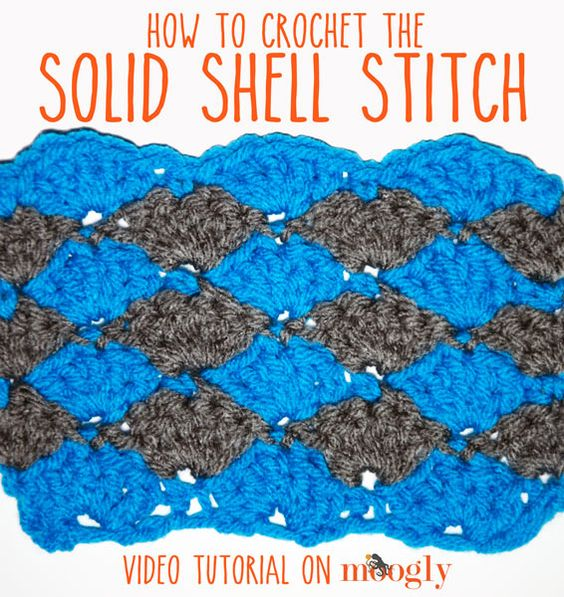 Crochet Stitches And How To Do Them : crochet crochet shell stitch flats stitch patterns blankets how to do ...