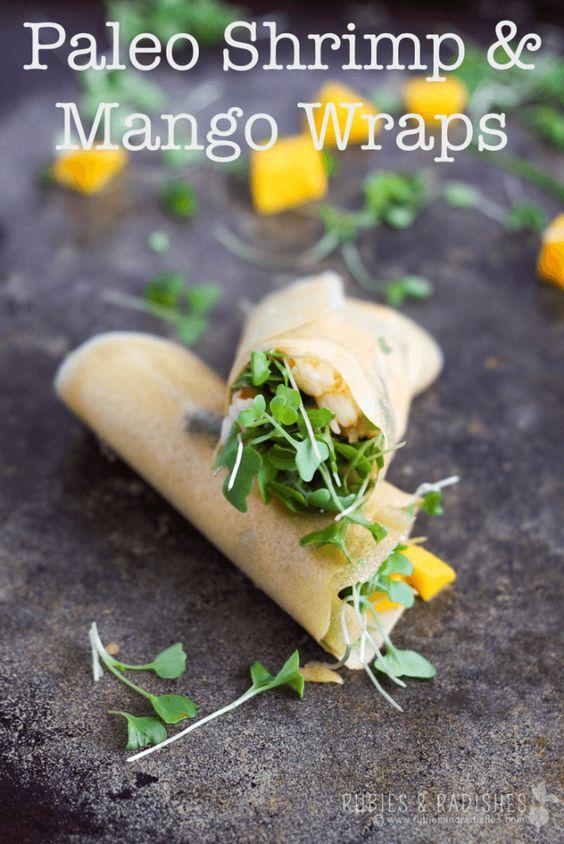 Paleo Shrimp & Mango Wraps - Rubies & Radishes