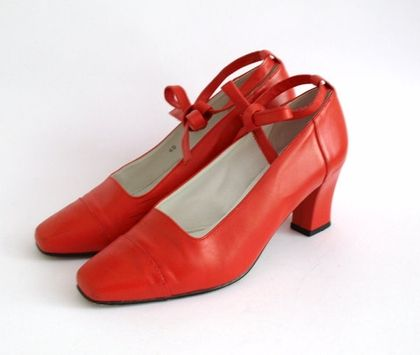 Vintage Courreges red leather space age by PennyDreadfulVintage - StyleSays