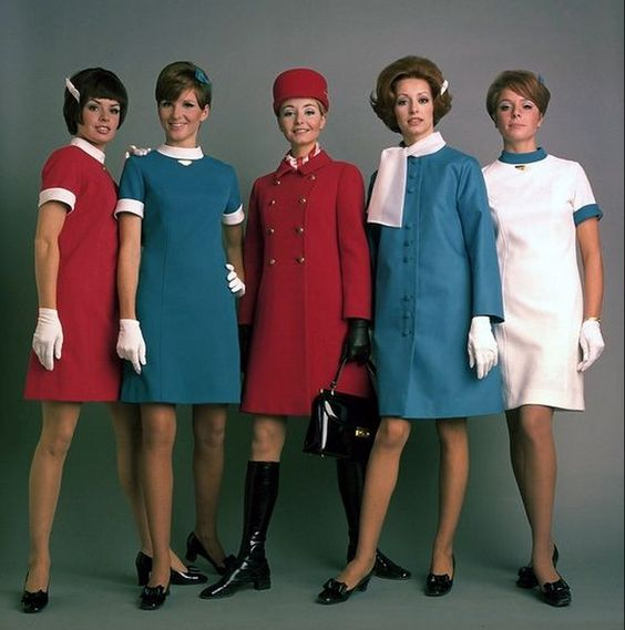 Young and mod, the Air Canada stewardess uniforms of the late 1960s.