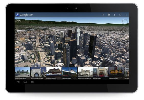 Super-detailed 3D City Maps on Google Earth 7.0 for Mobile & Ipad - Los Angeles tour guide