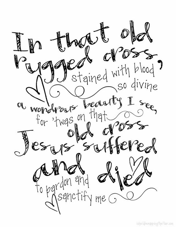 Free Printable The Old Rugged Cross Three Days It Is