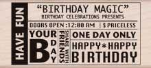 Hero Arts Rubber Stamp BIRTHDAY MAGIC k5717