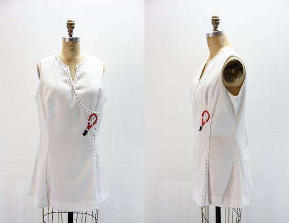 XL Vintage Tennis Dress Mini Tennis Dress by SIZEisJUSTaNUMBER, $54.00