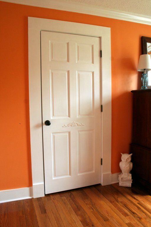 Perfect Farmhouse Style Door Trim And Baseboards...just Use Pine Boards.  Inexpensive And Easy. :)The Twice Remembered Cottage: A Cottage Bedroom    The Maru2026