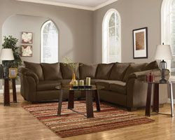 Rent Furniture Ashley Darcy Cafe 2 Piece Sectional