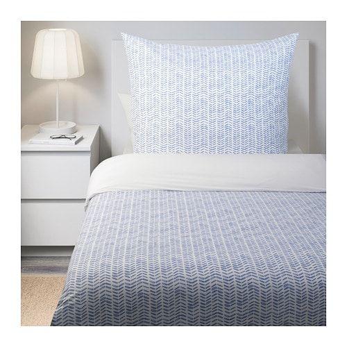 Gomblomma Bettwascheset 2 Teilig Blau Weiss Ikea Deutschland