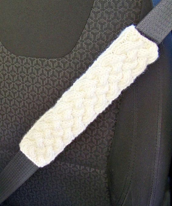 Knitting Pattern for Cable Seat Harness Cover - This cozy will help make your...