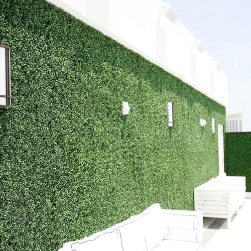 Artificial Ivy Easygrass Artificial Ivy Living Wall And Green Wall Miami Artificial Green Wall Green Wall Plants Ivy Wall