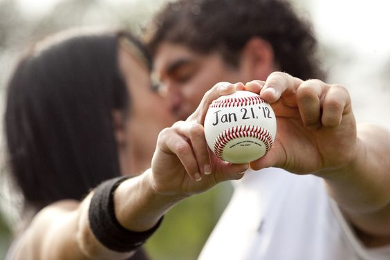 this will obviously have to be our save the date picture for my handsome baseball playing fiance. :): Engagement Photo, Wedding Ideas, Baseball Photo, Wedding Photo, Engagement Picture, Baseball Save, Photo Idea, Baseball Wedding