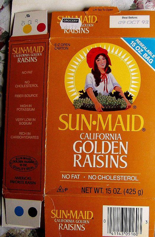 1993 SUN-MAID golden raisins box | by mankatt
