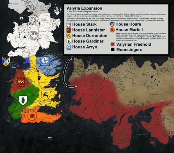 game of thrones valyria map