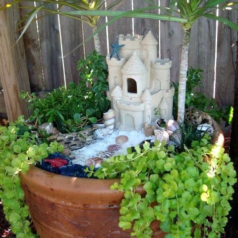 Miniature Gardens Beach Themes And Garden Planters On