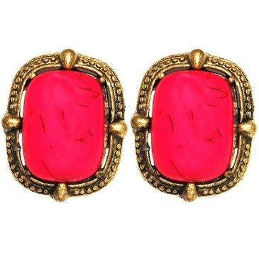 shocking fuchsia earrings