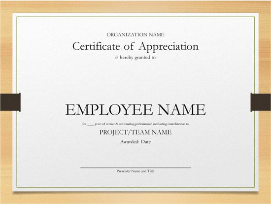 Templates Certificate Years Of Service 5 Printable Years Of