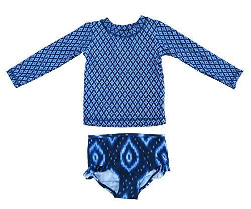 TAIYCYXGAN Baby Toddler Girls Kids Long Sleeve Swimsuit Rash Guard UPF 50 UV with Headband
