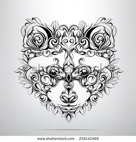 Raccoon Face Line Art Embroidery Design