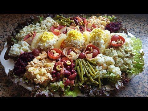 سلاد متنوعة سلطة راقية للضيوف شلاضة لعراضة Youtube Cobb Salad Salad Cobb