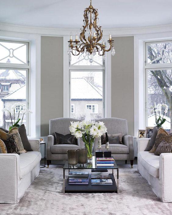 Klassisk eleganse i denne stuen i oslo, interiør ved #poppedesign ...