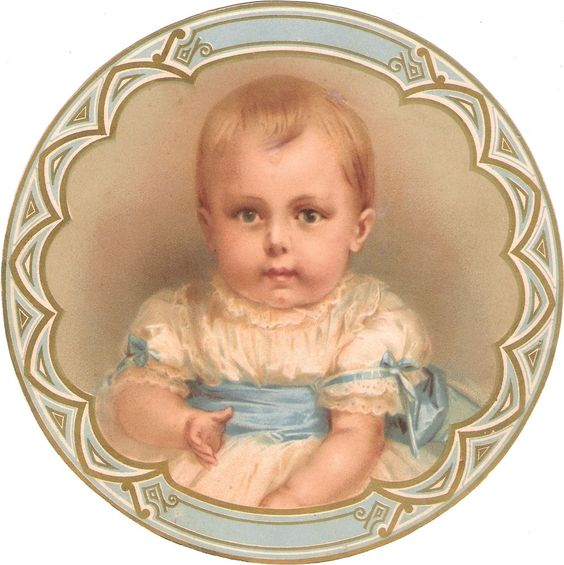 Oblaten Glanzbild scrap diecut chromo Kind XL 17cm child Baby bebe portrait girl: