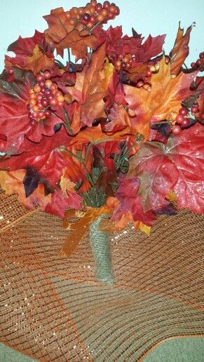 Fall wedding made of honor bouquet hand made