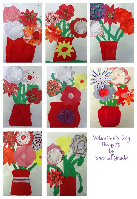Valentine's Day Bouquet Collage