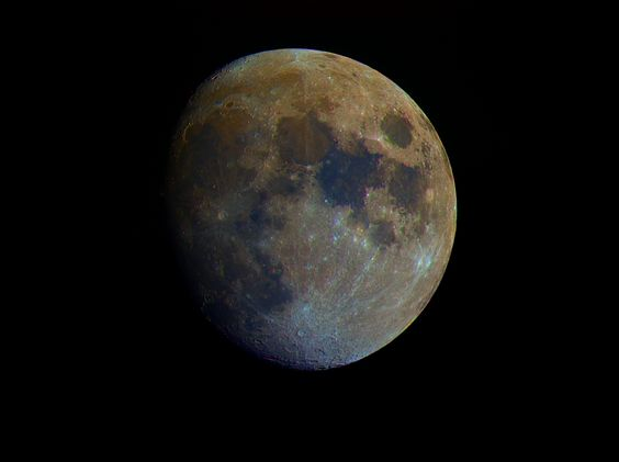 Moon In Enhanced Color