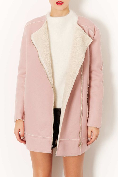 pink wool lined coat {in love with this} #Reiss #BeMine #PinToWin