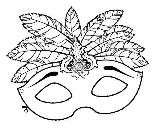 Mascaras venecianas para colorear buscar con google - Mascaras para carnaval ...
