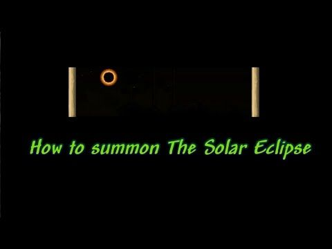 Terraria 1 3 Tutorial How To Summon The Solar Eclipse Anatw Delilahtw Eclipse Literaturesubject Gameplay Solareclips Solar Eclipse Summoning Tutorial Ive always thought that the solar eclipse in terraria is when the weirdos come out. pinterest