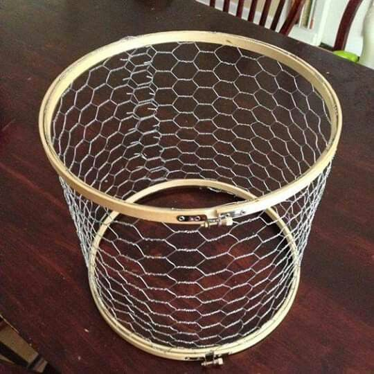 Pin By Alio On Rankdarbiai Diy Lamp Shade Farmhouse Lampshade Chicken Wire Crafts