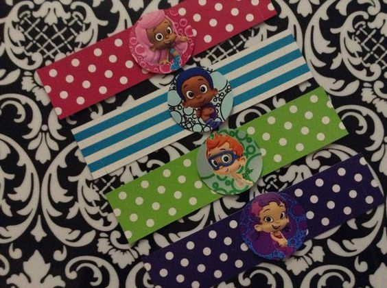 12 Bubble Guppies Napkin Rings - Birthday Party Decor- You choose the theme on Etsy, $6.00