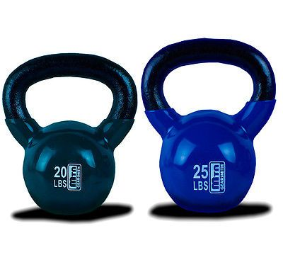 New MTN Vinyl Coated 2025 Lbs Cast Iron Kettlebells Combo Weight Dumbbells